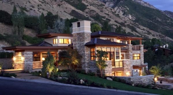 houses beautiful mountain - photo #43